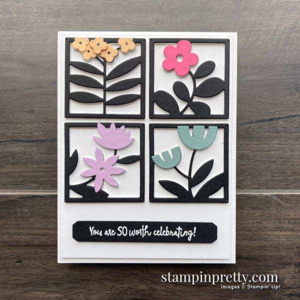 NEW All Squared Away Bundle and In Colors from Stampin' Up! Card by Mary Fish, Stampin' Pretty
