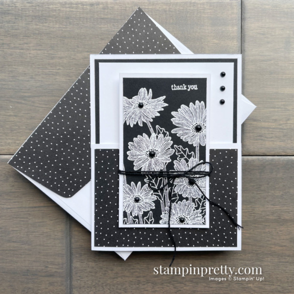 NEW! Daisy Garden Stamp by Stampin' Up! Thank you card by Mary Fish, Stampin' Pretty