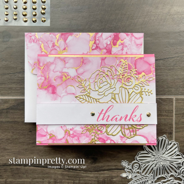 NEW Expressions in Ink Suite Collection from Stampin' Up! Thanks Card by Mary Fish, Simple Saturday