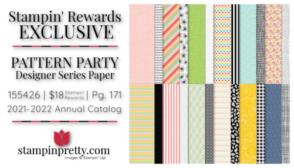 Pattern Party Designer Series Paper by Stampin' Up! Stampin' Rewards Exclusive - Earn with an $150+ Order from Stampin' Pretty, Mary Fish