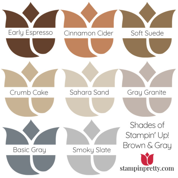 Shades of Stampin' Up! Brown & Gray Stampin' Pretty, Mary Fish Tulips