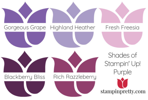 Shades of Stampin' Up! Purple Stampin' Pretty, Mary Fish Tulips
