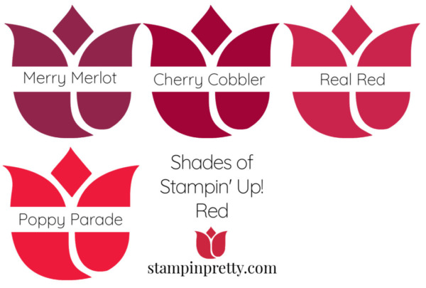 Shades of Stampin' Up! Red Stampin' Pretty, Mary Fish Tulips