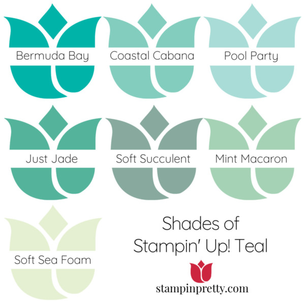Shades of Stampin' Up! Teal Stampin' Pretty, Mary Fish Tulips