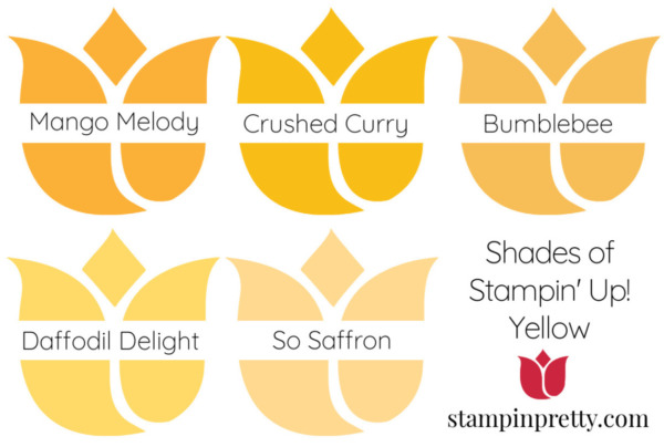 Shades of Stampin' Up! Yellow Stampin' Pretty, Mary Fish Tulips