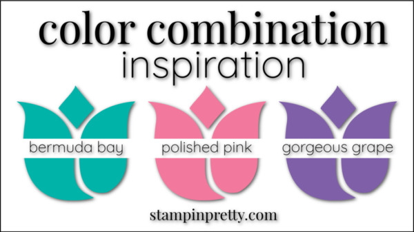 Stampin' Pretty Color Combinations Polished Pink, Bermuda Bay, Gorgeous Grape