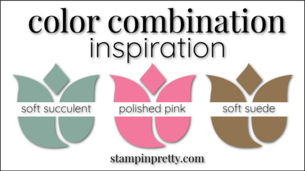 Stampin' Pretty Color Combinations Polished Pink, Soft Succulent, Soft Suede