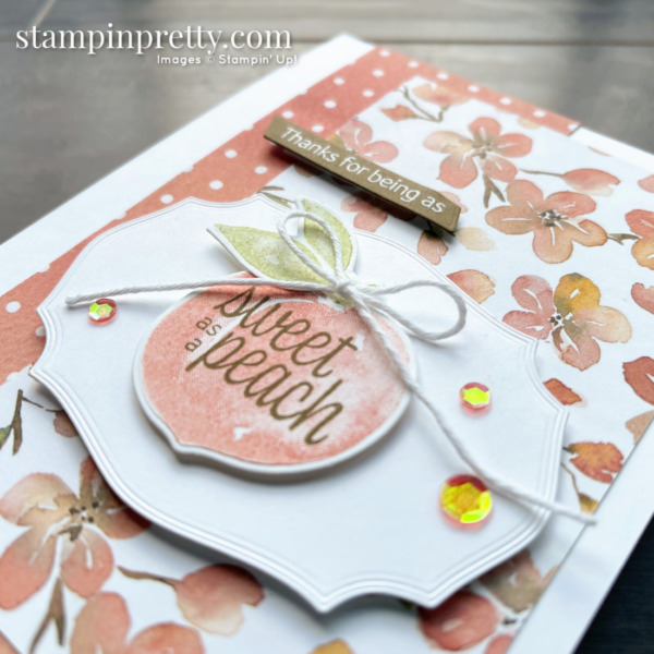 Sweet as a Peach Bundle and You're a Peach DSP from Stampin' Up! Card by Mary Fish, Stampin' Pretty