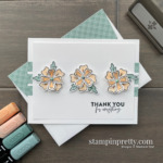 Thank You Card by Mary Fish using the Flowers of Friendship Punch Bundle from Stampin