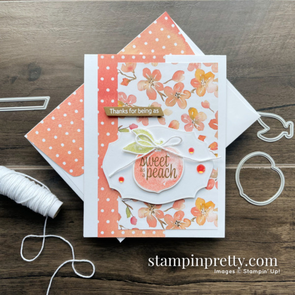 You're A Peach Suite Collection NEW from Stampin' Up! Thank You Card by Mary Fish, Stampin' Pretty