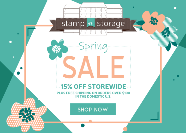 Stamp n Storage Spring Sale 15% Off and Free Shipping