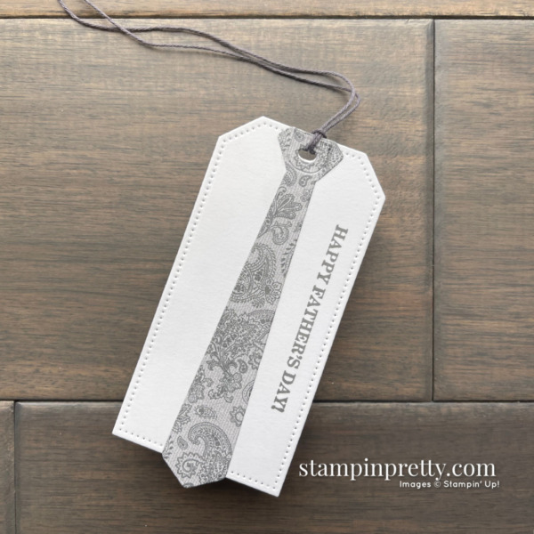 Create Happy Father's Day Gift Tags Using the Well Suited DSP and Tailored Tags by Stampin' Up! Mary Fish, Stampin' Pretty