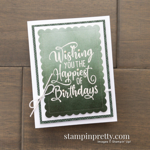 Happiest of Birthday Card - Take Your Pick Tool Tip - Mary Fish, Stampin' Pretty Pals Blog Hop Card Only