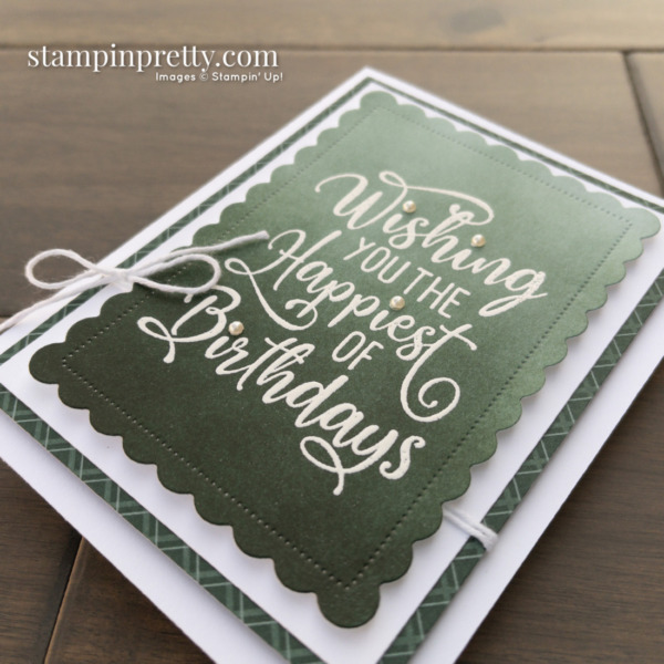 Happiest of Birthday Card - Take Your Pick Tool Tip - Mary Fish, Stampin' Pretty Pals Blog Hop Slant View