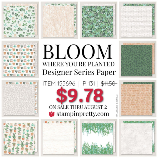 Bloom Where You're Planted Designer Series Paper by Stampin Up! Mary Fish