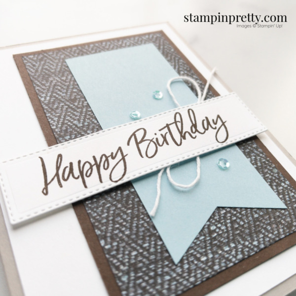 Create Masculine Birthday Card using the In Good Taste DSP from Stampin' Up! Card by Mary Fish, Stampin' Pretty