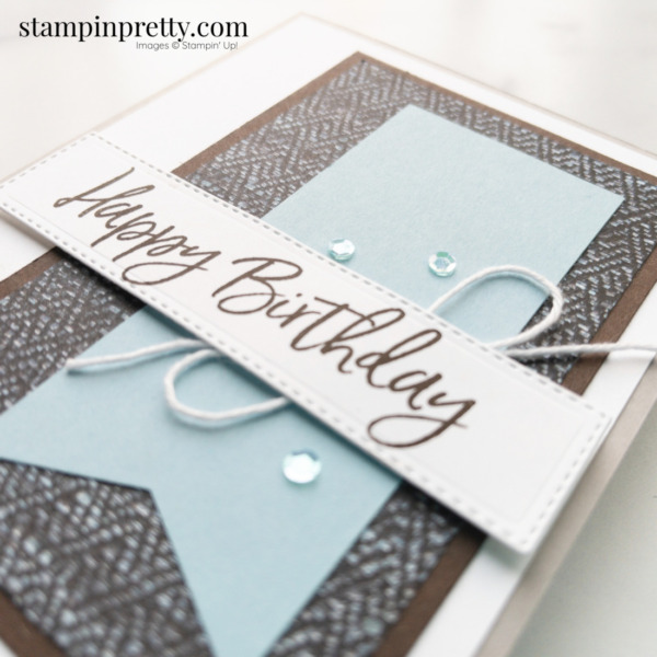Create this Masculine Birthday Card using the In Good Taste DSP Stampin' Up! Card by Mary Fish, Stampin' Pretty