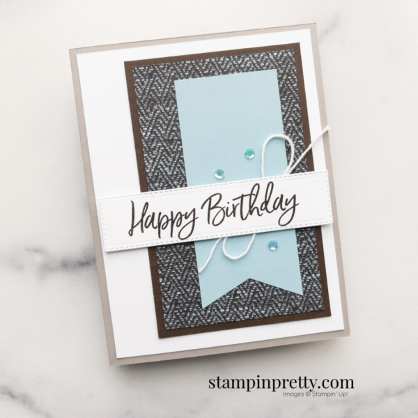 Create this Masculine Birthday Card using the In Good Taste DSP from Stampin' Up! Card by Mary Fish Stampin' Pretty