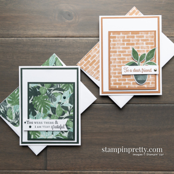 Create this card duo using the Bloom Where You're Planted DSP from Stampin' Up! Cards by mary Fish, Stampin' Pretty