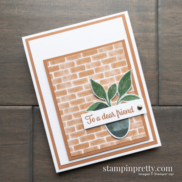 Create this friend card using the Bloom Where You're Planted DSP from Stampin' Up! Cards by mary Fish, Stampin' Pretty