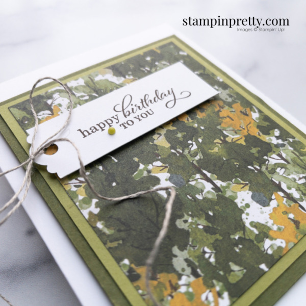 Create this masculine birthday card using the Beauty of the Earth Designer Series Paper Mary Fish, Stampin' Pretty