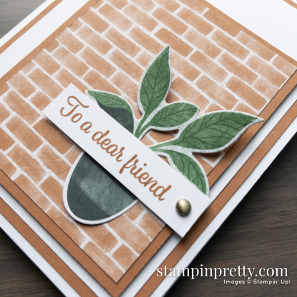 Create this simple friend card using the Bloom Where You're Planted DSP from Stampin' Up! Cards by mary Fish, Stampin' Pretty