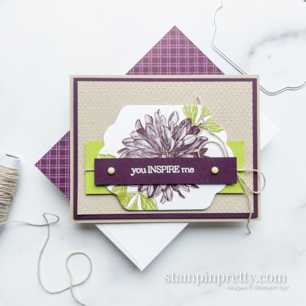 Delicate Dahlias Sale-a-Bration Stamp Set Free with $100 Purchase Card by Mary Fish, Stampin' Pretty