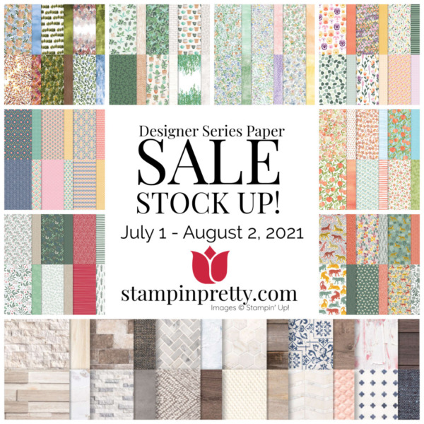 Designer Series Paper Sale - Stampin' Up! SHOP ONLINE 24 7 WITH MARY FISH