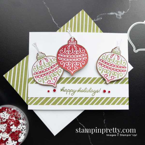 Gingerbread & Peppermint Suite Collection from Stampin' Up! Product Preview and card creation by Mary Fish, Stampin' Pretty