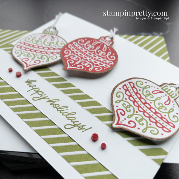 Gingerbread & Peppermint Suite Collection from Stampin' Up! Product Preview and card creation by Mary Fish, Stampin' Pretty Slant