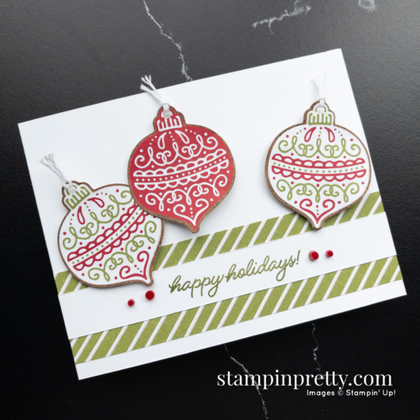 Gingerbread & Peppermint Suite Collection from Stampin' Up! Product Preview & card creation by Mary Fish, Stampin' Pretty