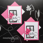 Hello Card Duo Stitched Leaves Dies From Stampin