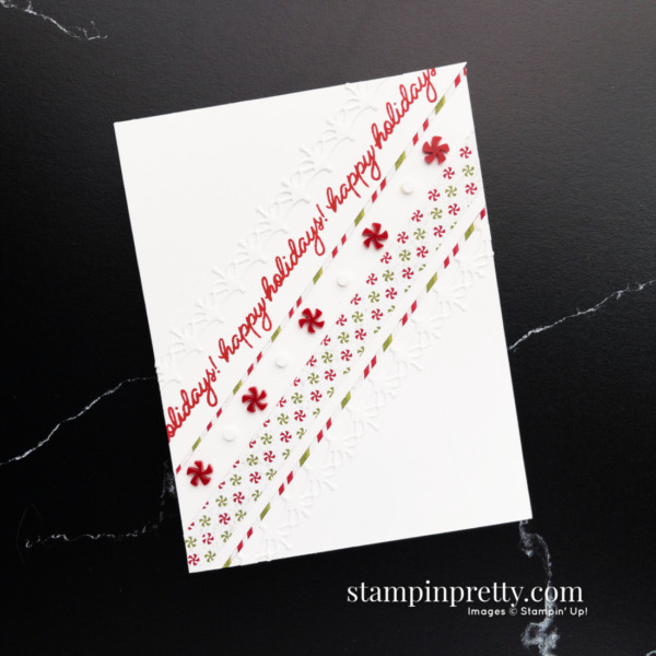 NEW PRODUCT PREVIEW! 2 Gingerbread and Peppermint Suite Collection from Stampin' Up! Holiday Card by Mary Fish, Stampin' Pretty