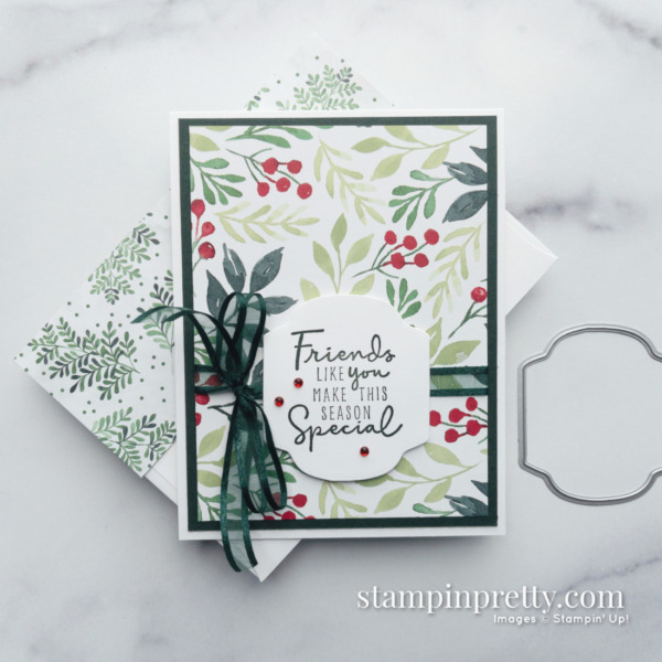 Painted Christmas Suite Product Preview - Holiday Card by Mary Fish, Stampin' Pretty