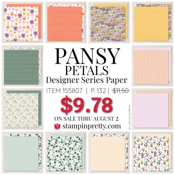 Pansy Petals Designer Series Paper by Stampin Up! Mary Fish, Stampin' pRetty