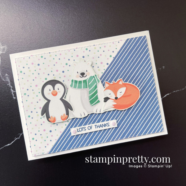 Penguin Playmates DSP and Penguin Place Bundle by Stampin' Up! Mary Fish, Stampin' Pretty Lots of Thanks