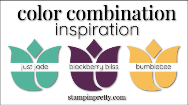 Stampin' Pretty Color Combinations Blackberry Bliss, Just Jade, Bumblebee