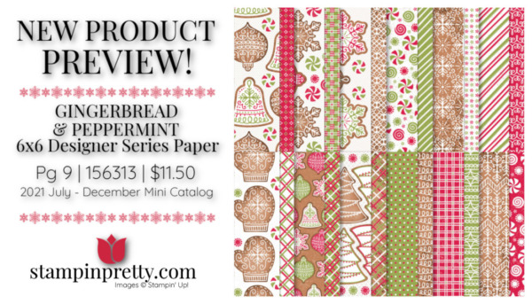 Stampin' Up! Gingerbread and Peppermint 6x6 Paper 156313 Page 9 Mary Fish, Stampin' Pretty