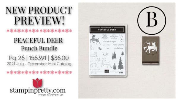 Stampin' Up! PEACEFUL DEER Punch Bundle Mary Fish, Stampin' Pretty