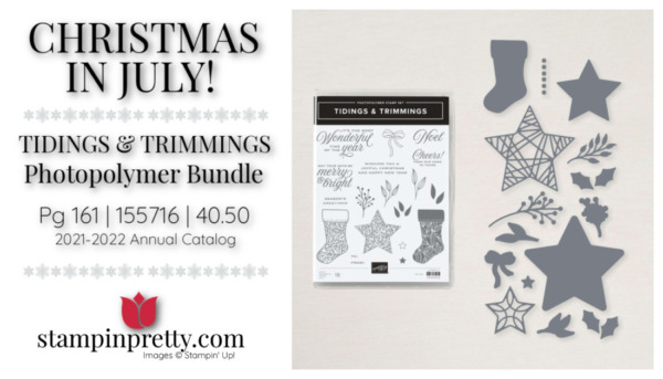 Stampin' Up! Tidings & Trimmings Bundle 155716 Page 161 Mary Fish, Stampin' Pretty
