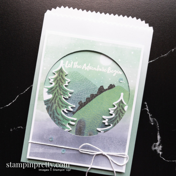 The Adventure Begins July 2021 Paper Pumpkin Alternate #1 Ombre Gift Bag- Mary Fish, Stampin' Pretty