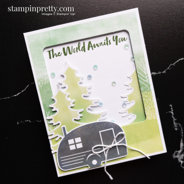 The Adventure Begins July 2021 Paper Pumpkin Alternate #3 Card Mary Fish, Stampin' Pretty
