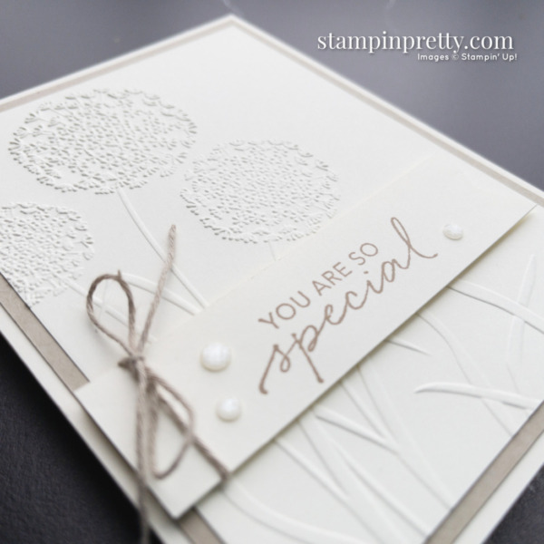 You Are So Special Card using Dandelion 3D Embossing Folder by Stampin' Up! Card by Mary Fish, Stampin' Pretty