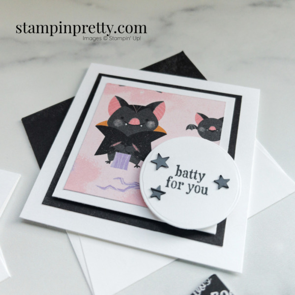 Batty for You 3x3 Note Card Frightfully Cute Mary Fish, Stampin' Pretty