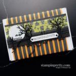 Create a Frightfully Cute Mini Paper Pumpkin Halloween Treat Box using the Frightfully Cute Bundle from Stampin