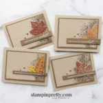 Create these simple cards using the Gorgeous Leaves Bundle from Stampin