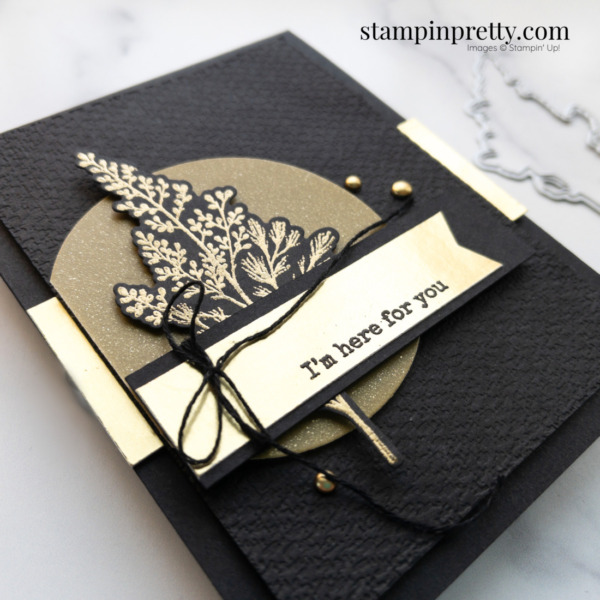 Create this Here For You Card using the Beauty of Tomorrow Bundle From Stampin' Up! Mary Fish, Stampin' Pretty