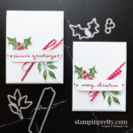 Create this card duo using Christmas Season and Christmas to Remember Bundles. Holiday cards created by Mary Fish, Stampin
