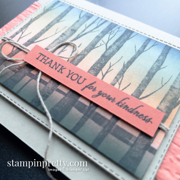Create this card using Blending Brushes and Welcoming Woods Stamp Set by Stampin' Up! Card by Mary Fish, Stampin' Pretty