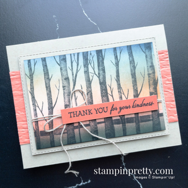 Create this card using Blending Brushes and the Welcoming Woods Stamp Set by Stampin' Up! Card by Mary Fish Stampin' Pretty